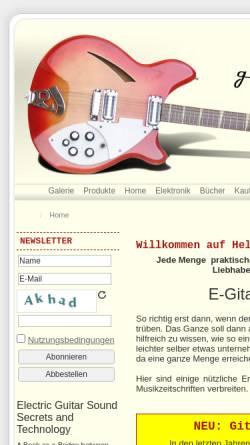 Vorschau der mobilen Webseite www.gitarrenelektronik.de, Helmuth Lemme's E-Gitarren-Seiten