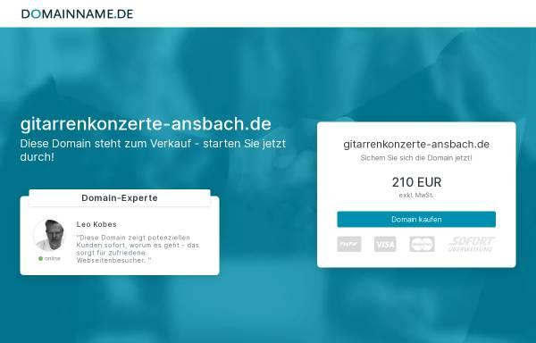 Vorschau von www.gitarrenkonzerte-ansbach.de, Internationale Gitarrenkonzerte Ansbach