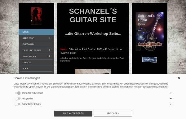 Vorschau von www.schanzel.de, Schanzel's Guitar Site