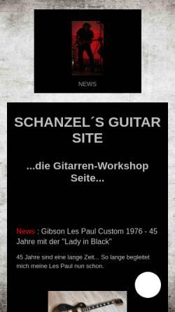Vorschau der mobilen Webseite www.schanzel.de, Schanzel's Guitar Site