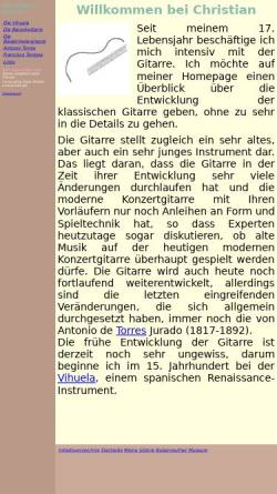 Vorschau der mobilen Webseite gitarre.kleemil.de, Der Weg zur Gitarre