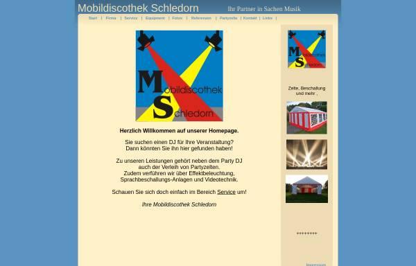Vorschau von www.mobildiscothek-schledorn.de, Mobildiscothek Dominik Schledorn