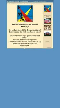 Vorschau der mobilen Webseite www.mobildiscothek-schledorn.de, Mobildiscothek Dominik Schledorn