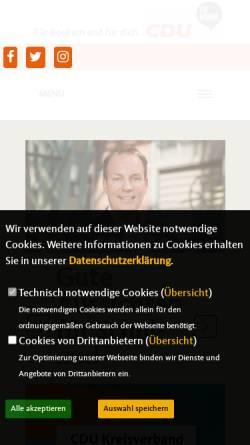 Vorschau der mobilen Webseite www.cdu-bochum.de, CDU Bochum