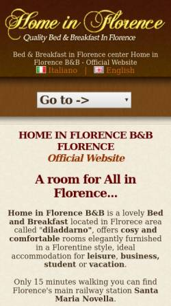 Vorschau der mobilen Webseite www.homeinflorence.com, Home in Florence