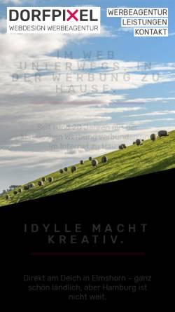 Vorschau der mobilen Webseite www.dorfpixel.de, Dorfpixel Webdesign Werbeagentur
