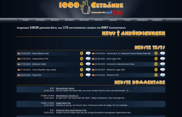 1000 Getränke: Tests, Bier 1000getraenke.de