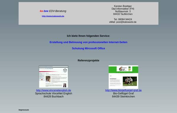 Vorschau von www.kaboeedv.de, Karsten Boettger EDV Beratung