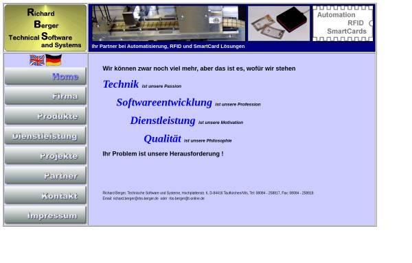 Vorschau von www.rbs-berger.de, Technische Software und Systeme - Richard Berger