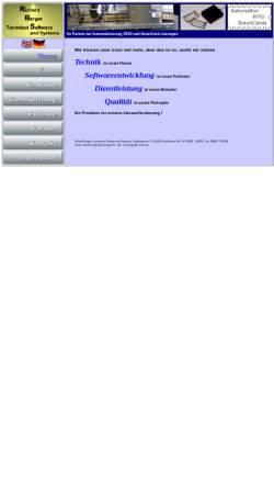 Vorschau der mobilen Webseite www.rbs-berger.de, Technische Software und Systeme - Richard Berger