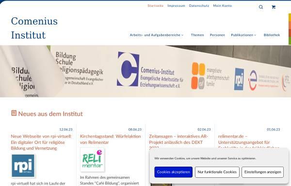 Vorschau von www.cimuenster.de, Comenius-Institut - Evangelische Arbeitsstätte für Erziehungswissenschaft e.V.