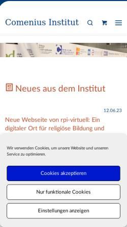 Vorschau der mobilen Webseite www.cimuenster.de, Comenius-Institut - Evangelische Arbeitsstätte für Erziehungswissenschaft e.V.