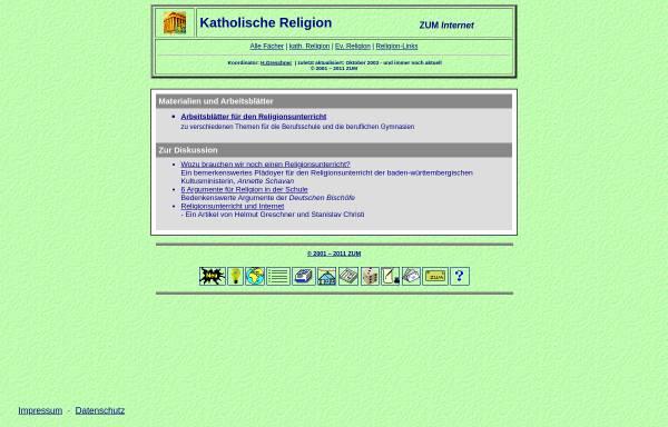 Vorschau von www.zum.de, Katholische Religion