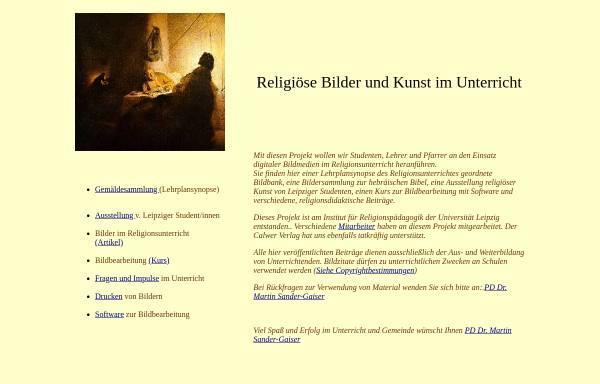 Vorschau von www.uni-leipzig.de, Religiöse Bilder und Kunstgestaltung im Unterricht