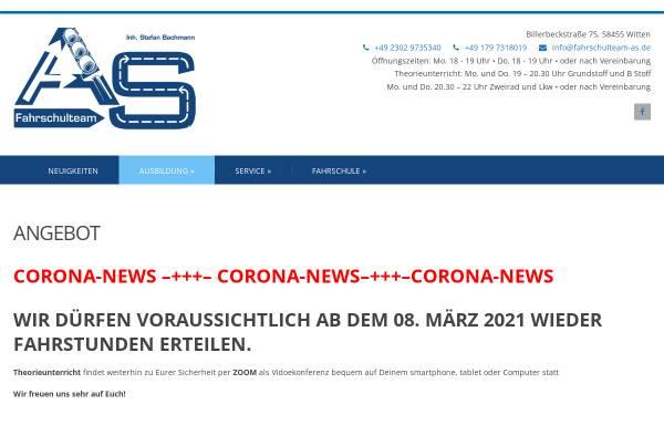 Vorschau von www.fahrschulteam-as.de, Fahrschulteam Andre Herzog & Stefan Bachmann, Witten