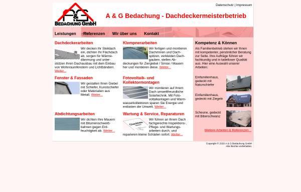 Vorschau von www.agbedachung.de, A & G Bedachung GmbH