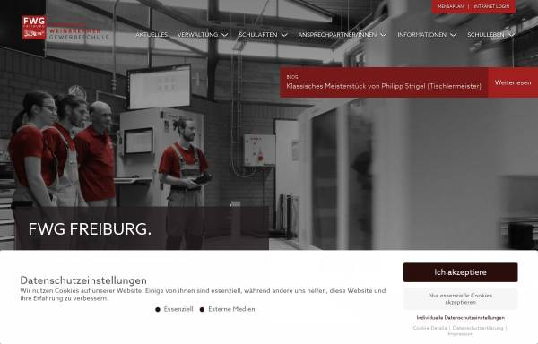 Vorschau von fwg-freiburg.de, Friedrich-Weinbrenner-Gewerbeschule