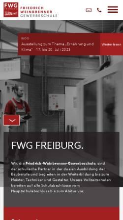 Vorschau der mobilen Webseite fwg-freiburg.de, Friedrich-Weinbrenner-Gewerbeschule