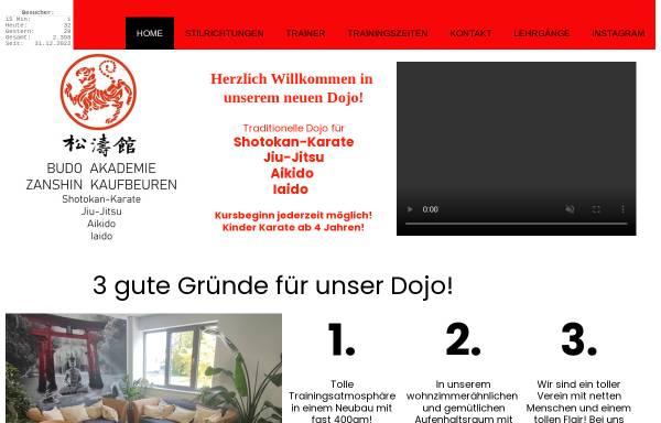 Vorschau von www.karate-kaufbeuren.de, Karate- und Kampfkunst-Dojo Kaufbeuren