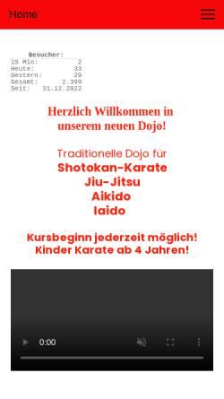 Vorschau der mobilen Webseite www.karate-kaufbeuren.de, Karate- und Kampfkunst-Dojo Kaufbeuren