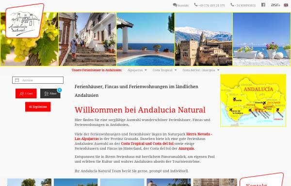 Vorschau von www.andalucianatural.de, Andalucia Natural