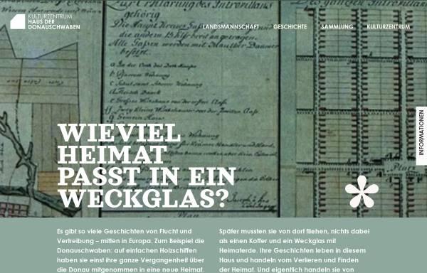 Vorschau von www.donauschwaben-bayern.de, Haar, Haus der Donauschwaben
