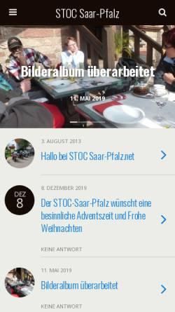 Vorschau der mobilen Webseite www.stoc-saar-pfalz.net, STOC Chapter Saar-Pfalz