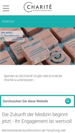 Vorschau der mobilen Webseite www.charity-for-charite.de, Charity for Charité