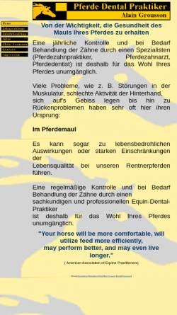 Vorschau der mobilen Webseite gesunder-pferdezahn.de, Alain Grousson