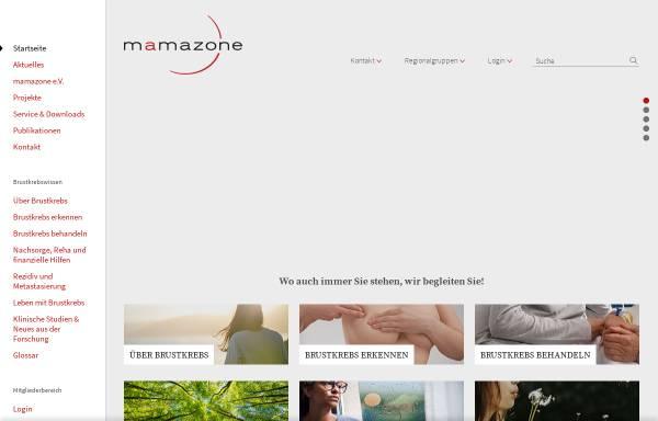 Vorschau von www.mamazone.de, Mamazone - Frauen und Forschung gegen Brustkrebs e.V.