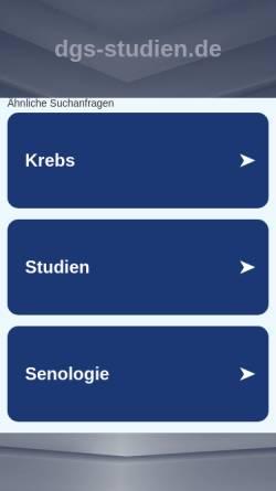 Vorschau der mobilen Webseite www.dgs-studien.de, Studiendatenbank der Strategiekommission der DGGG