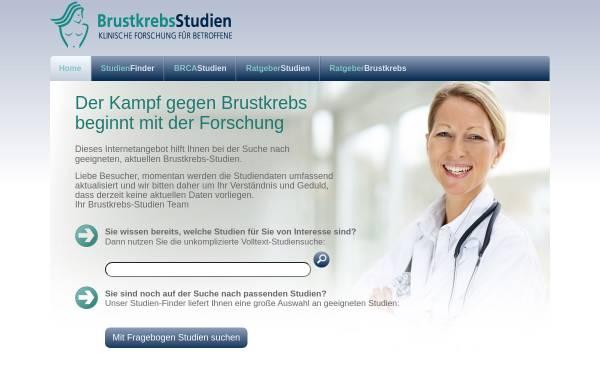 Vorschau von www.brustkrebs-studien.de, Unabhängiges Studien Portal zum Thema Brustkrebs