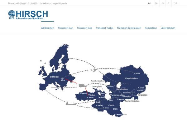 Vorschau von www.hirsch-spedition.de, Hirsch GmbH Internationale Spedition