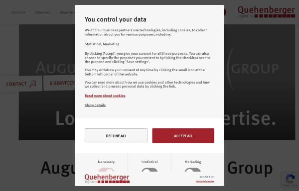 Vorschau von www.quehenberger.com, Augustin Quehenberger Group GmbH
