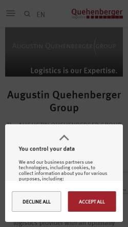 Vorschau der mobilen Webseite www.quehenberger.com, Augustin Quehenberger Group GmbH