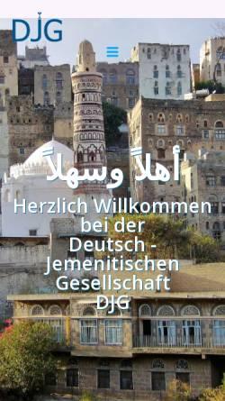 Vorschau der mobilen Webseite www.djg-ev.de, Deutsch-Jemenitische Gesellschaft e.V.