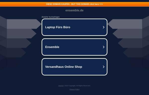 Vorschau von www.ensemble.de, Ensemble - Alois und Frank Weckenmann