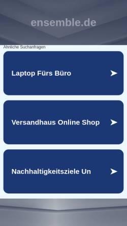 Vorschau der mobilen Webseite www.ensemble.de, Ensemble - Alois und Frank Weckenmann