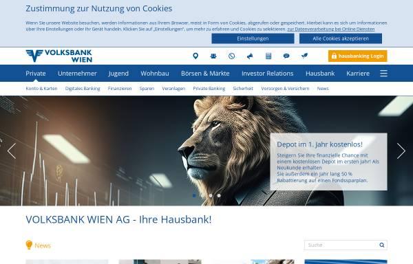 Vorschau von www.volksbankwien.at, ÖVAG Österreichische Volksbanken AG