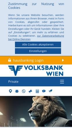 Vorschau der mobilen Webseite www.volksbankwien.at, ÖVAG Österreichische Volksbanken AG