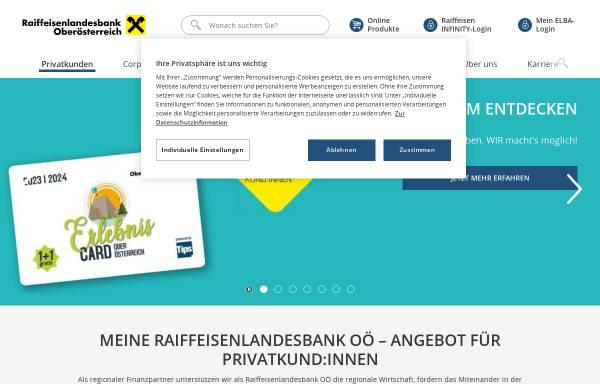 Vorschau von www.rlbooe.at, Raiffeisenlandesbank Oberösterreich reg. Gen.m.b.H.
