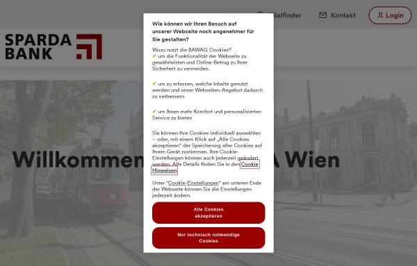 Vorschau von www.spardawien.at, Sparda Bank AG Wien