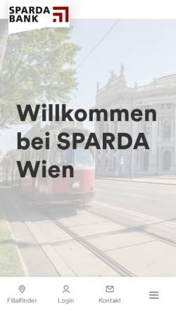 Vorschau der mobilen Webseite www.spardawien.at, Sparda Bank AG Wien