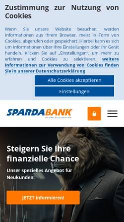 Vorschau der mobilen Webseite www.spardabank.at, Sparda-Banken in Österreich