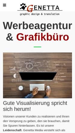 Vorschau der mobilen Webseite www.genetta.de, Genetta Media