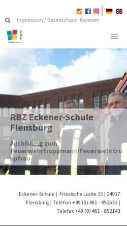 Vorschau der mobilen Webseite www.eckener-schule.de, GBS - Flensburg