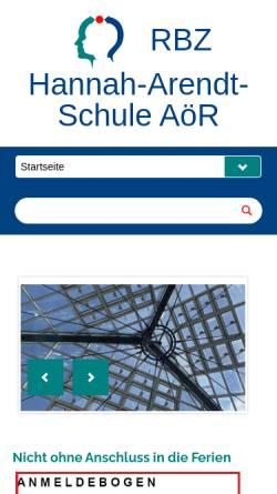 Vorschau der mobilen Webseite www.has-fl.de, Hannah-Arendt-Schule