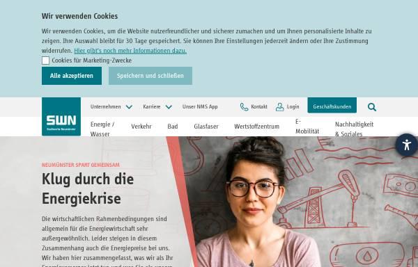 Vorschau von www.stadtwerke-neumuenster.de, SWN Stadtwerke Neumünster Beteiligungen GmbH