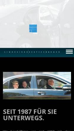 Vorschau der mobilen Webseite www.limousinenservicebremen.de, Limousinenservice Bremen