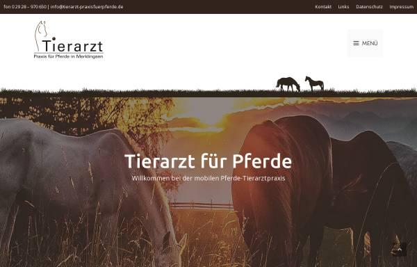 Vorschau von www.tierarzt-praxisfuerpferde.de, Tierarzt für Pferde
